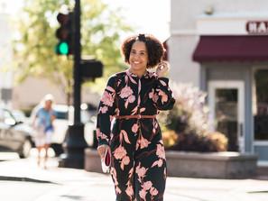 How to wear a floral midi dress 3 ways