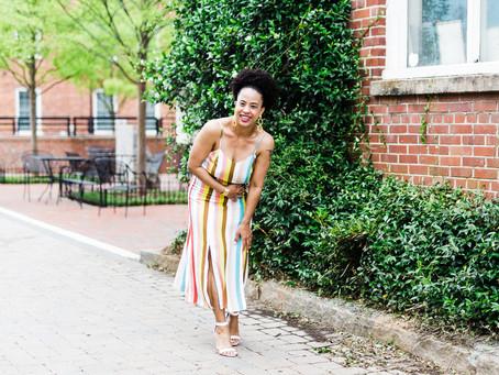 Style Alert: Striped Midi Dress