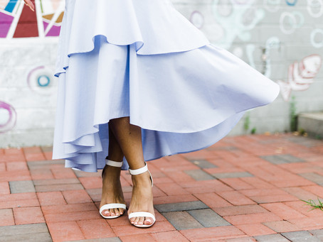 Style Alert: Ruffled Midi Skirt