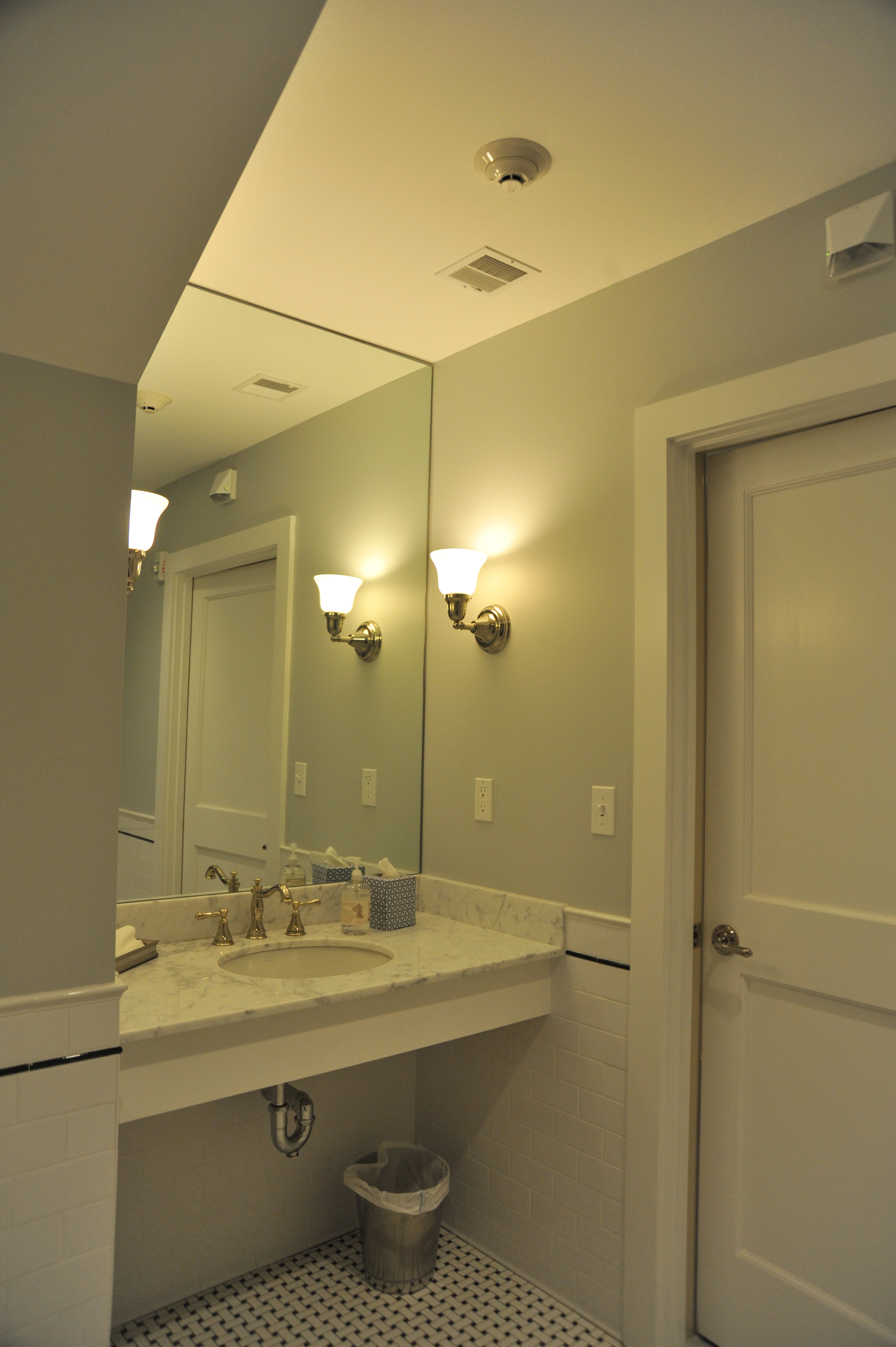 Newly created restrooms