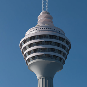 KL Tower 3D Model
