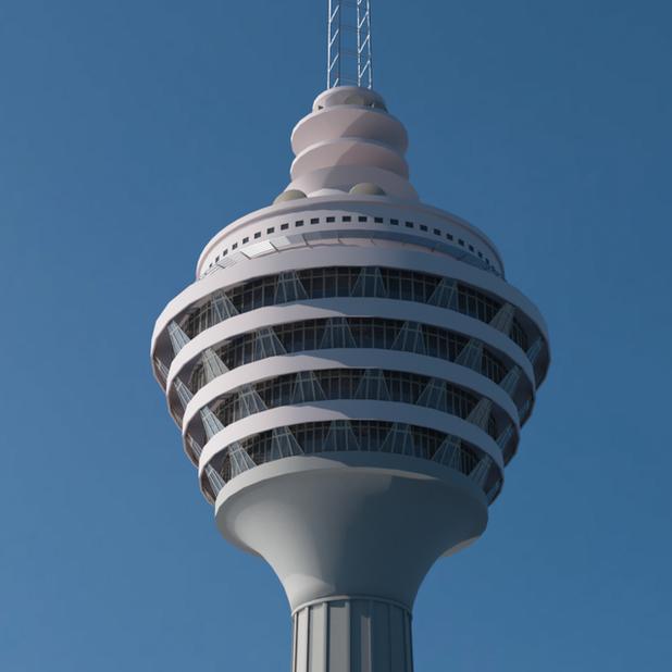 KL Tower 3D Model