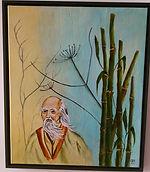 Bild: Laotse mit Bambus