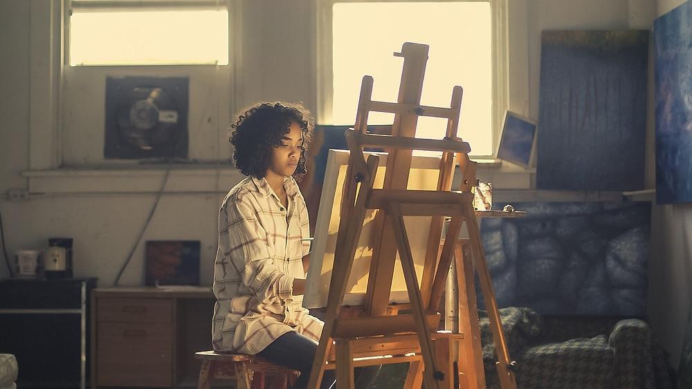 painting, easel, hobby, art