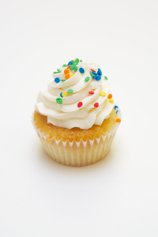 cake, cupcake, icing, sponge, sprinkles, temptation