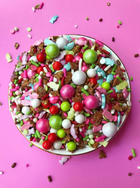 Neon-Yolk Christmas Cookies Sprinkle Mix