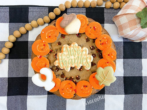 Give Thanks Cookie Cake