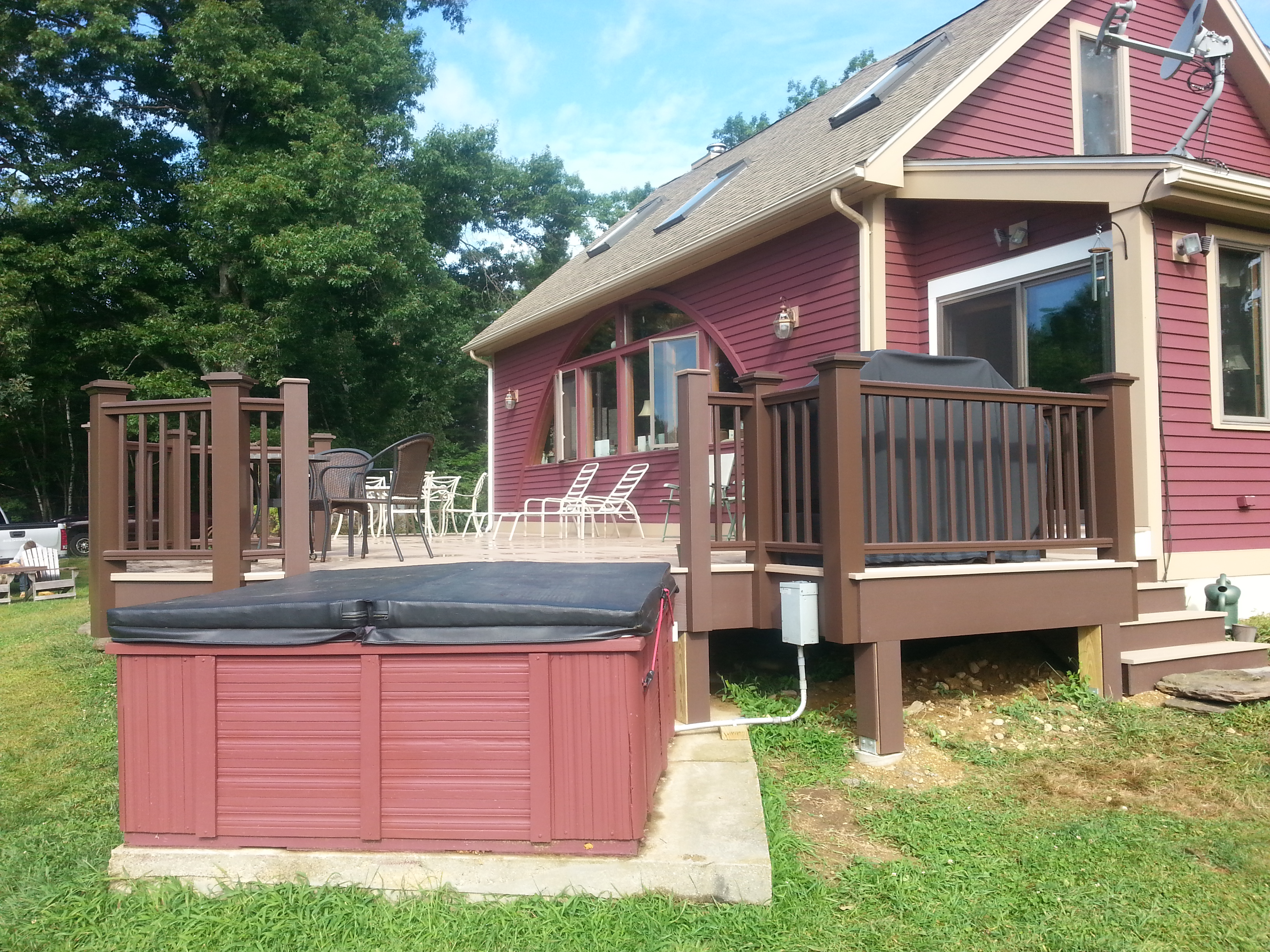 Azek Deck and Hot Tub