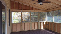 Deck, Stairs & Enclosed Porch