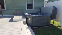 Composite Deck & Hot Tub