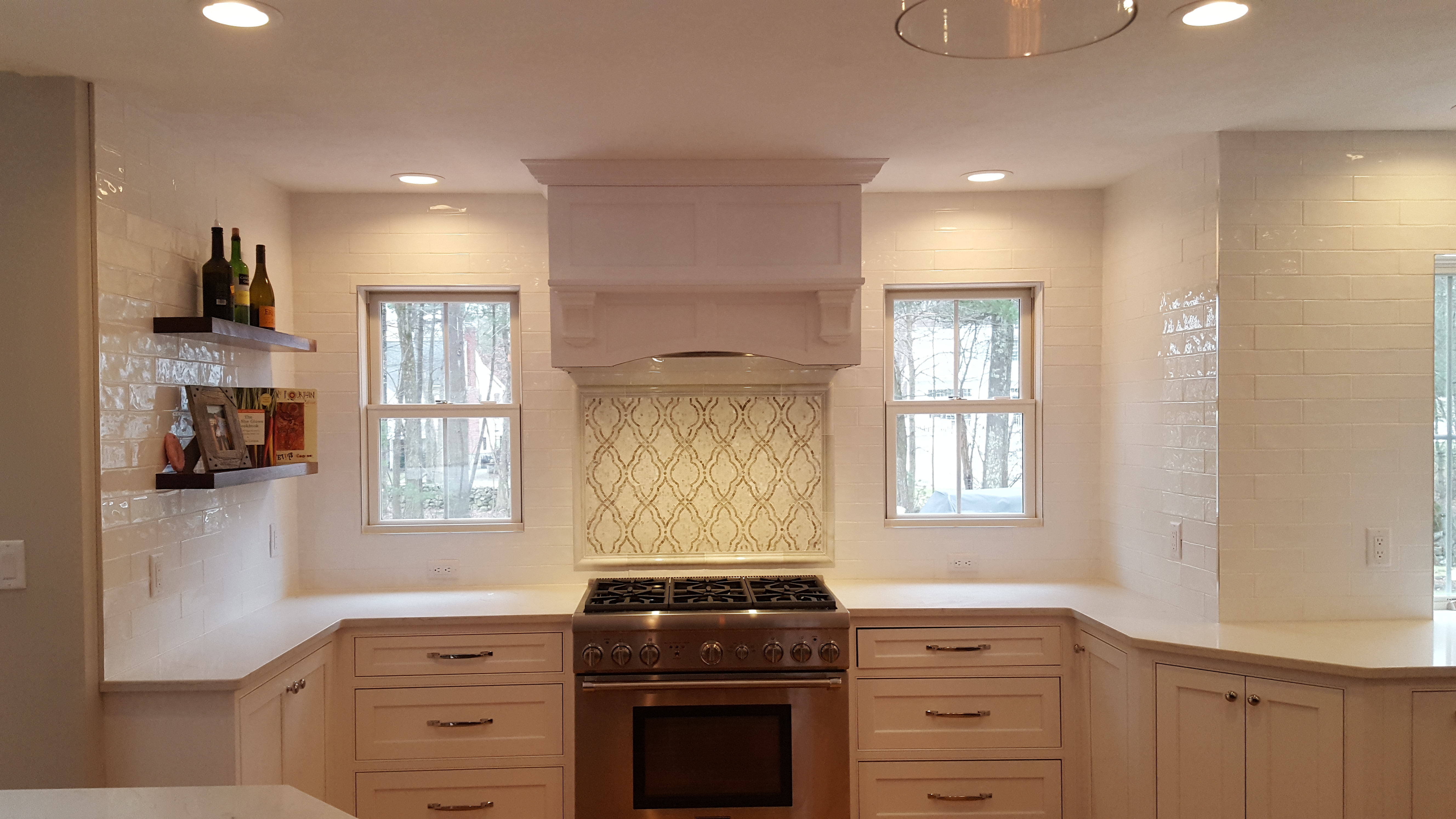 Marble Backsplash Patterned