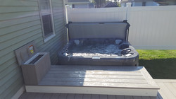 Hot tub and deck