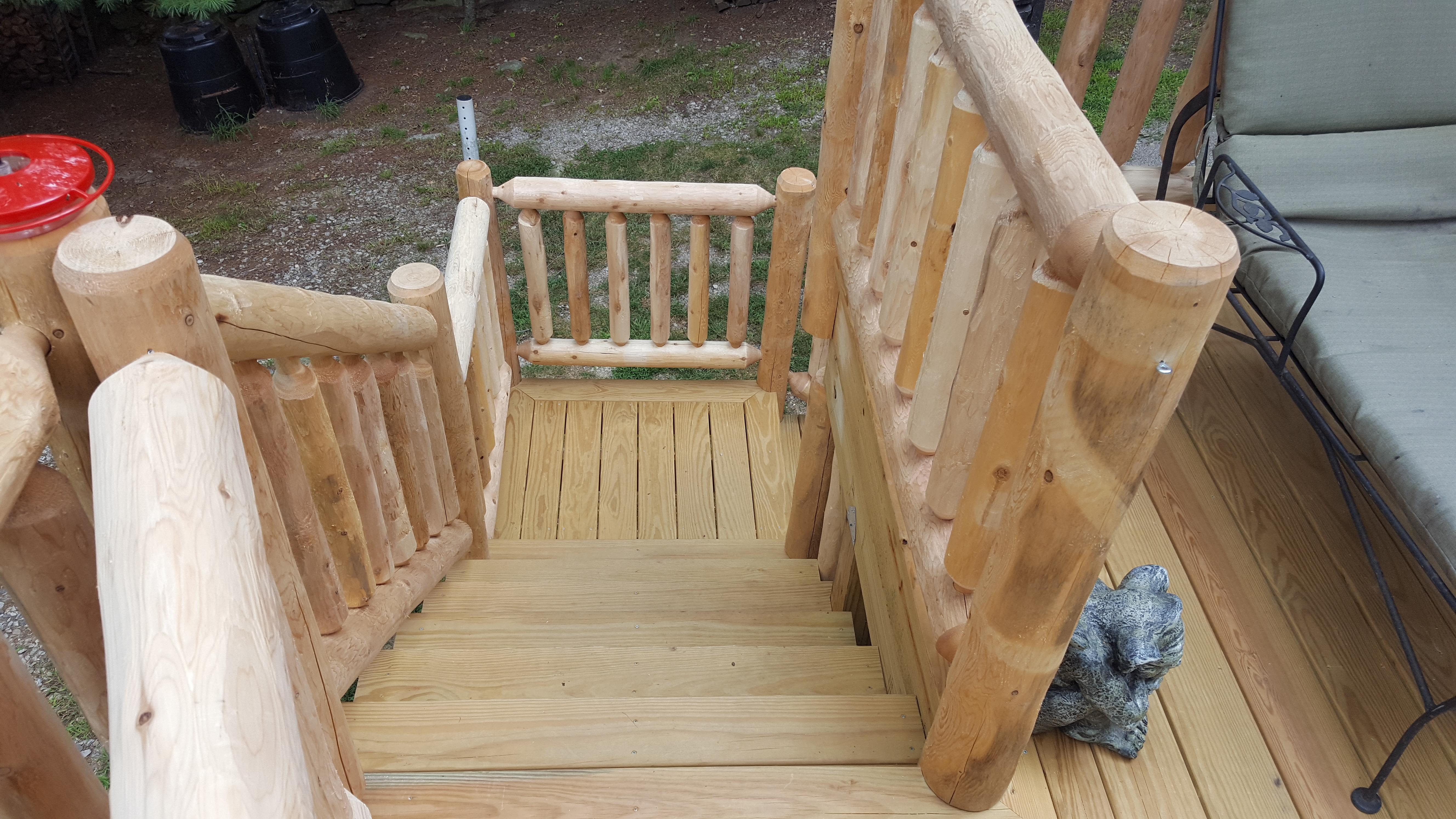 Log Rail Deck
