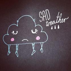 #illustrationgram #doodle #cloudlovers #sad #sketchoftheday #kimsenta #cutedrawing