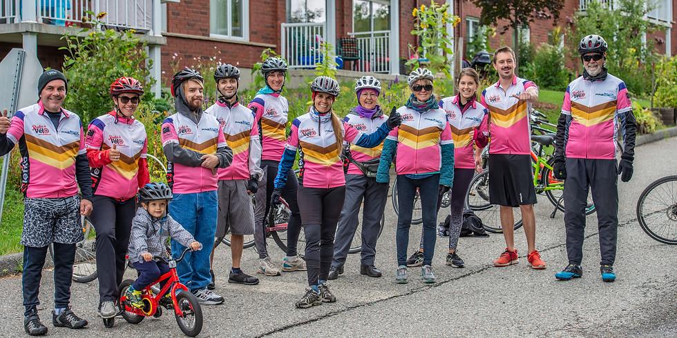 « Rouler à vélo pour Villa Pierrot » avec l'équipe du CJE!