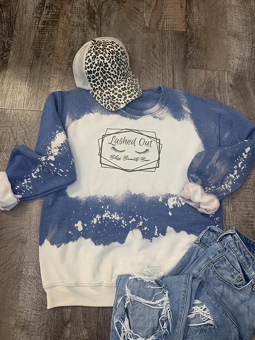 Lashed Out Blue Sweatshirt