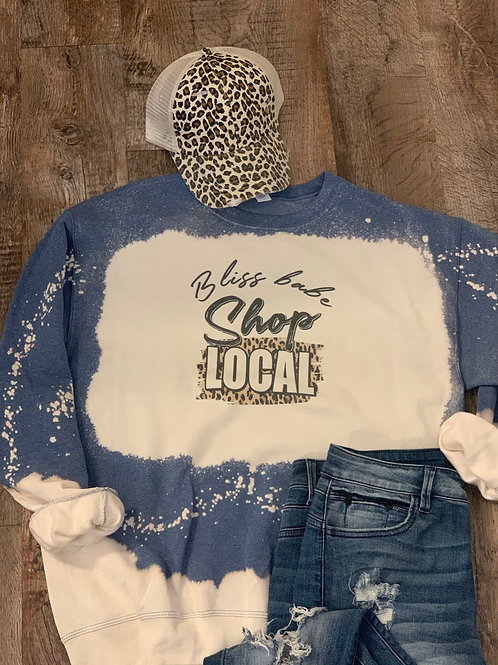 Shop Local Blue Sweatshirt