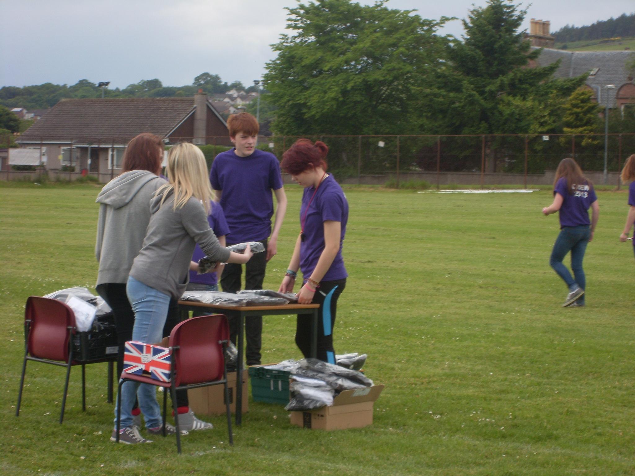 Setting up the Highland Gathering