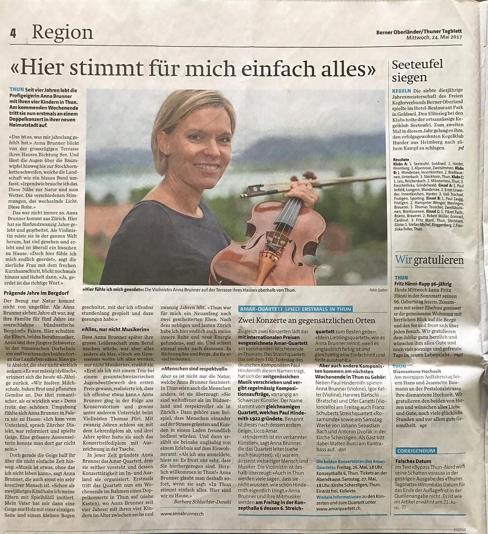 Thuner Tagblatt, 24. Mai 2017