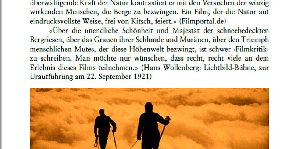 """Stummfilm """"Im Kampf mit dem Berge"""""""