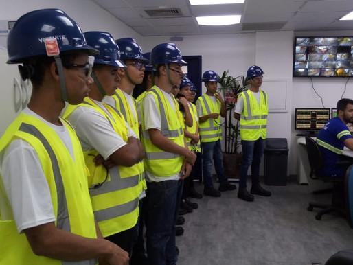 Conecta Vôlei visita terminal da Copersucar em Santos
