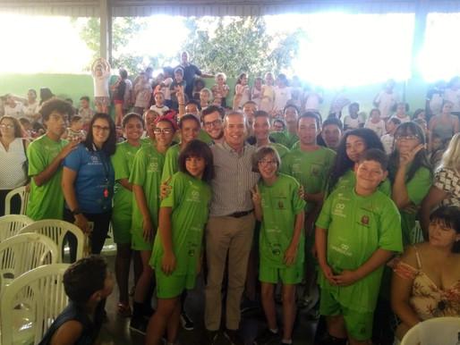Alunos do Vôlei Educacional participam da comemoração dos 11 anos do espaço ECO em Rio Preto