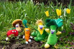 Veggies in the flower bed-1