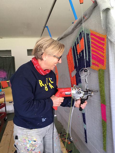 Gitte working.JPG
