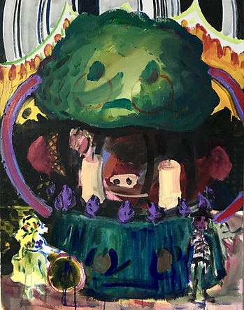 1. Broccoli Theatre acrylic on canvas 70