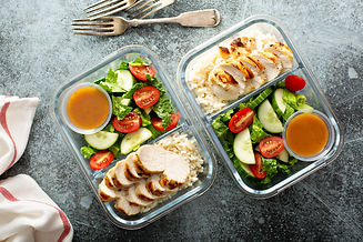 Meal prep lunch box containers with gril