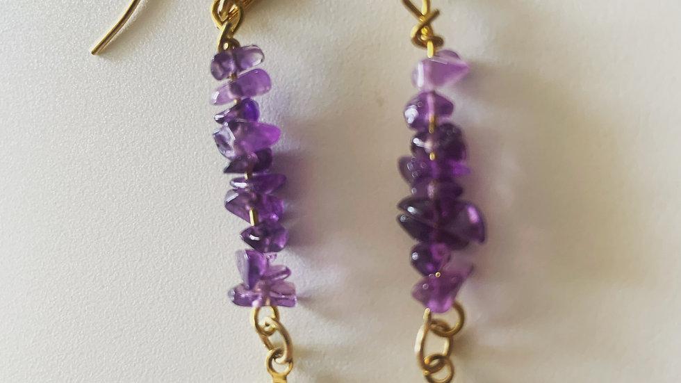 Amethyst Dangling Earrings
