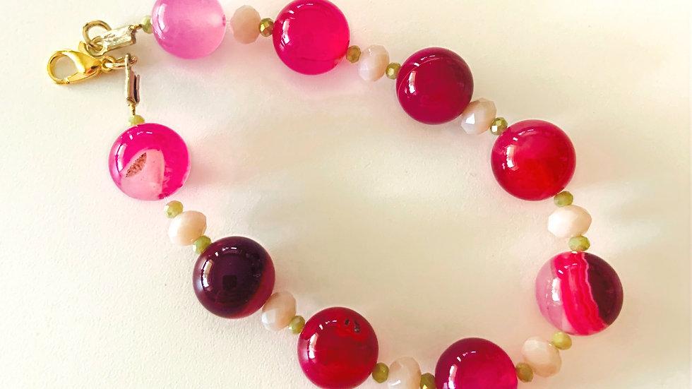 Hot Pink & Purple Bracelet