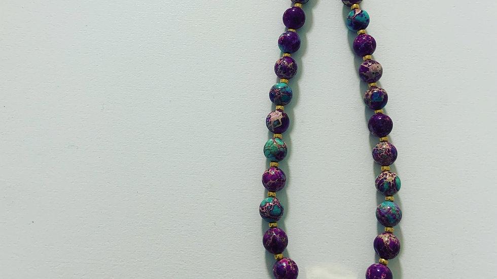 Jasper Aquamarine Necklace