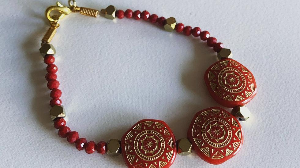 Indian Red Bracelet