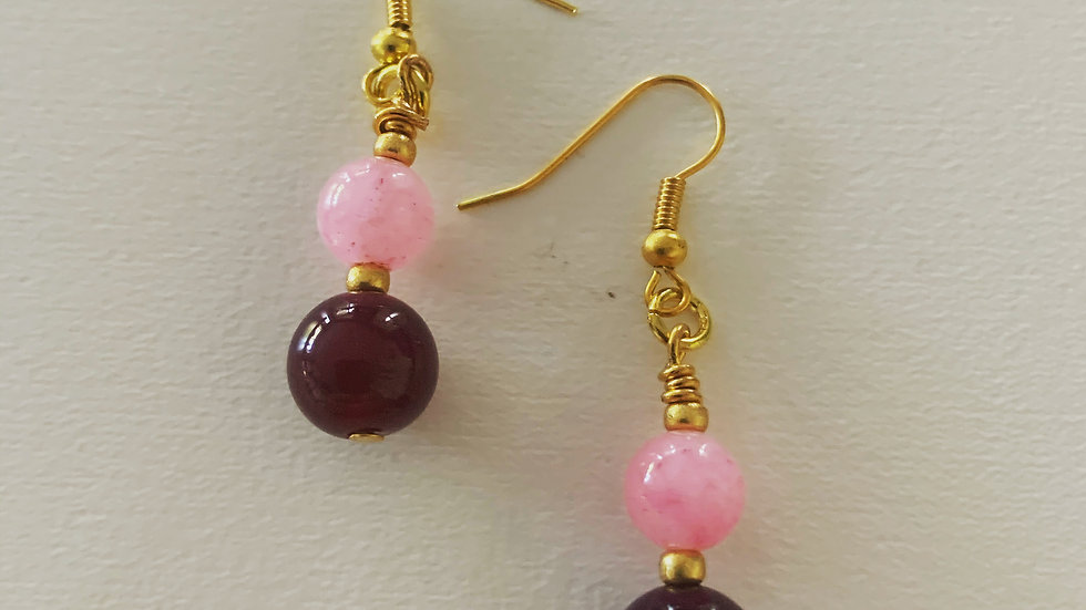 Hot Pink & Purple Earrings