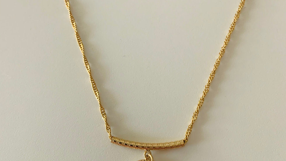 Golden Light Topaz Necklace