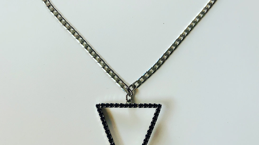 Triangle Rhinestone Necklace