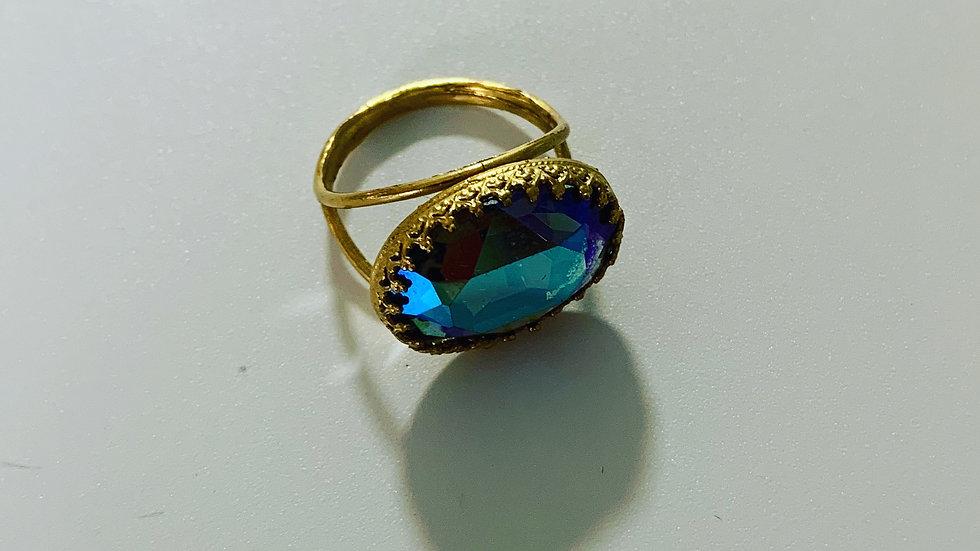 Aquamarine Swarovski Ring