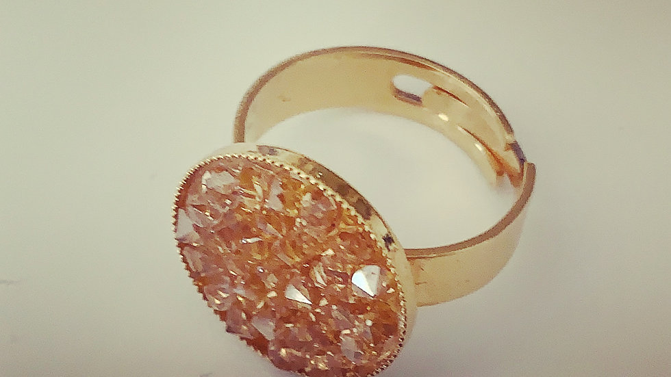Golden Shadow Swarovski Ring