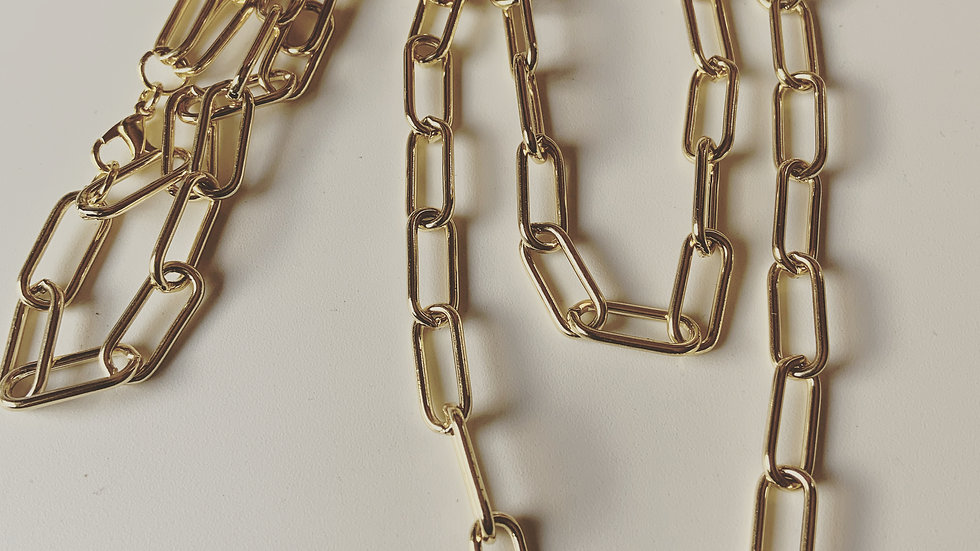 Double Strand Golden Link Necklace