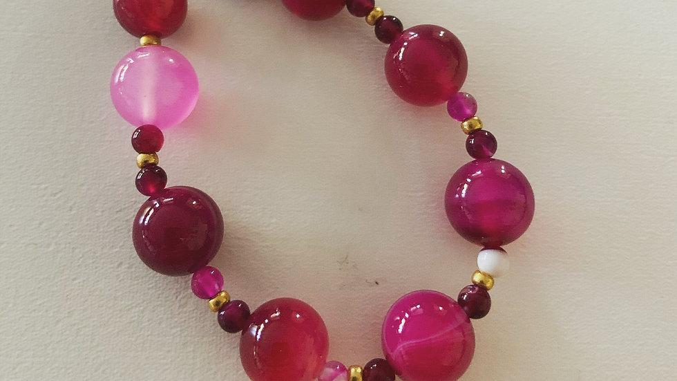 Bracelet in Fuchsia