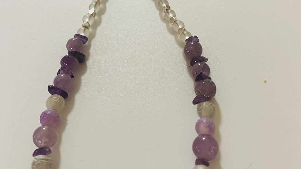 Multi Faceted Amethyst Necklace