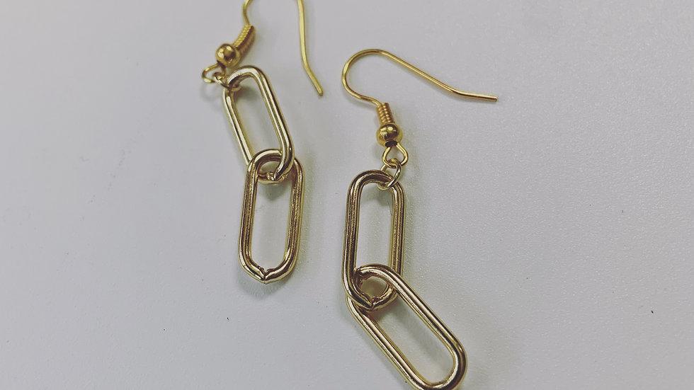 Golden Link Earrings