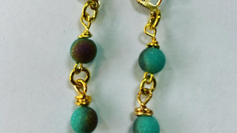 Dangling in Turquoise Earrings