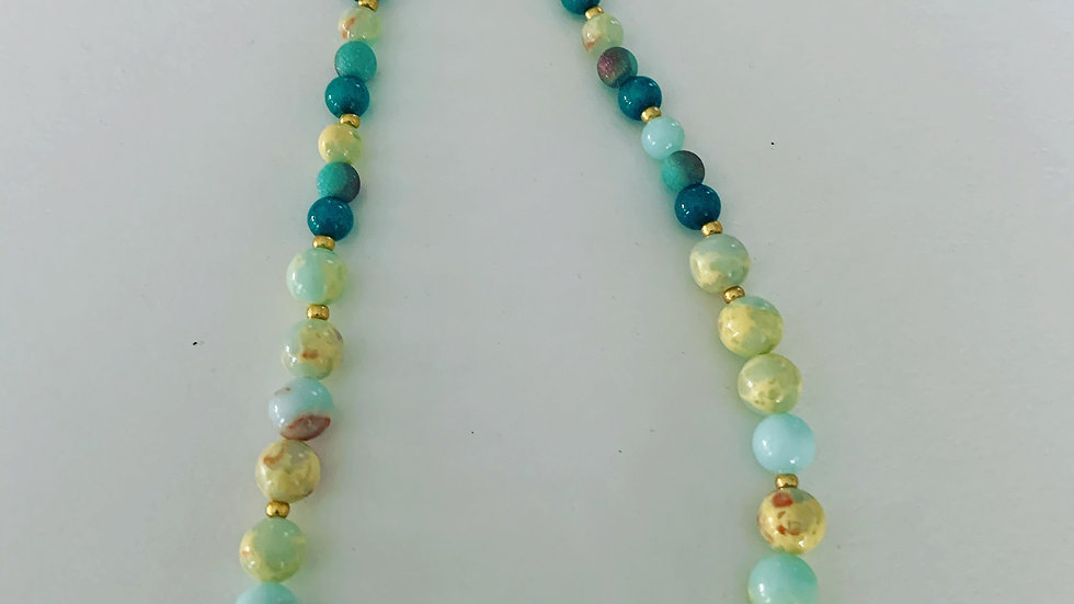 20 Shades of Turquoise Necklace