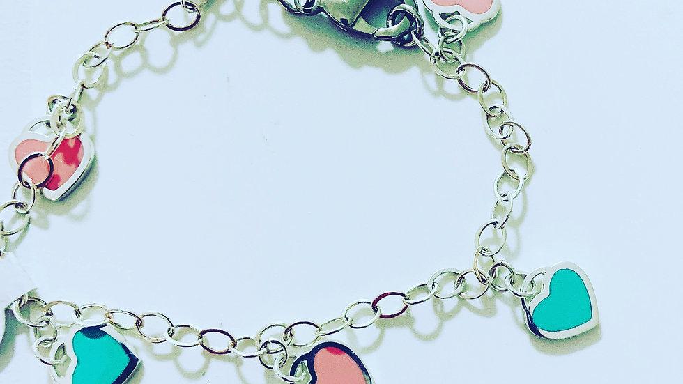 Sweetheart Silver Bracelet
