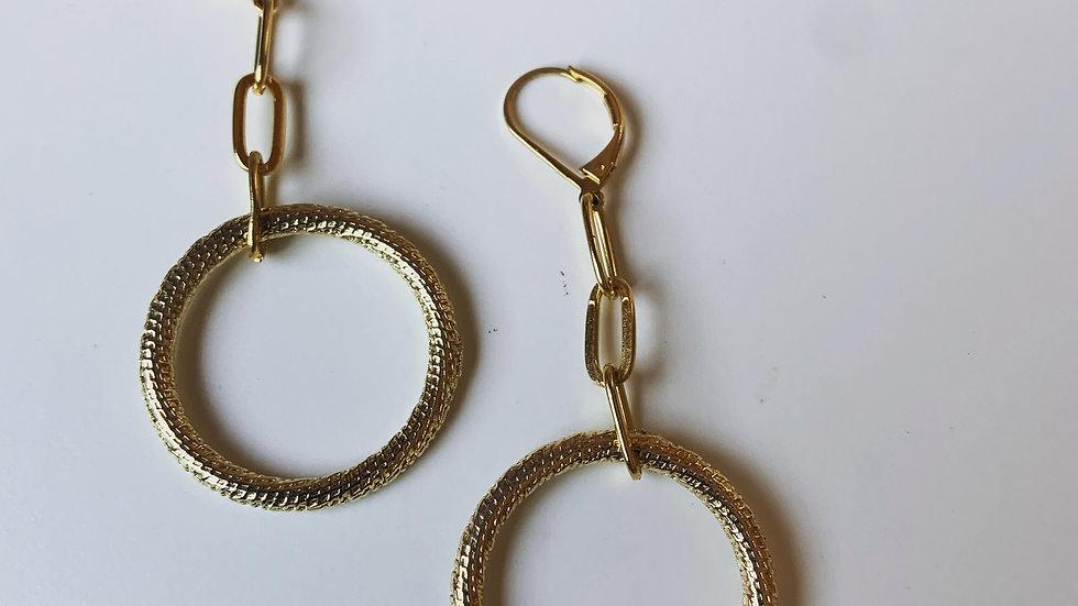 Hoops and Links Earrings