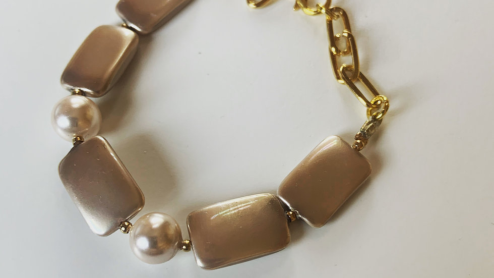 Pale Satin Mauve Bracelet