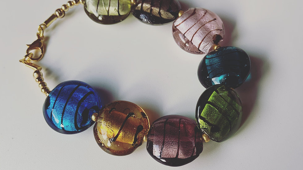 Colorful Glass Lamp Bracelet