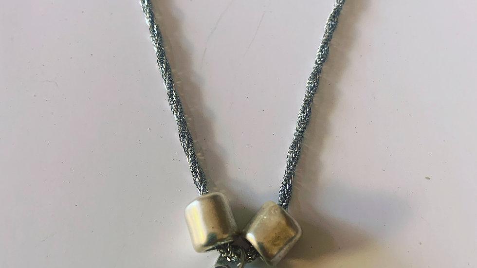 Aquamarine Swarovski Silver Necklace